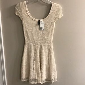 H&M Cream Lace Dress NWT